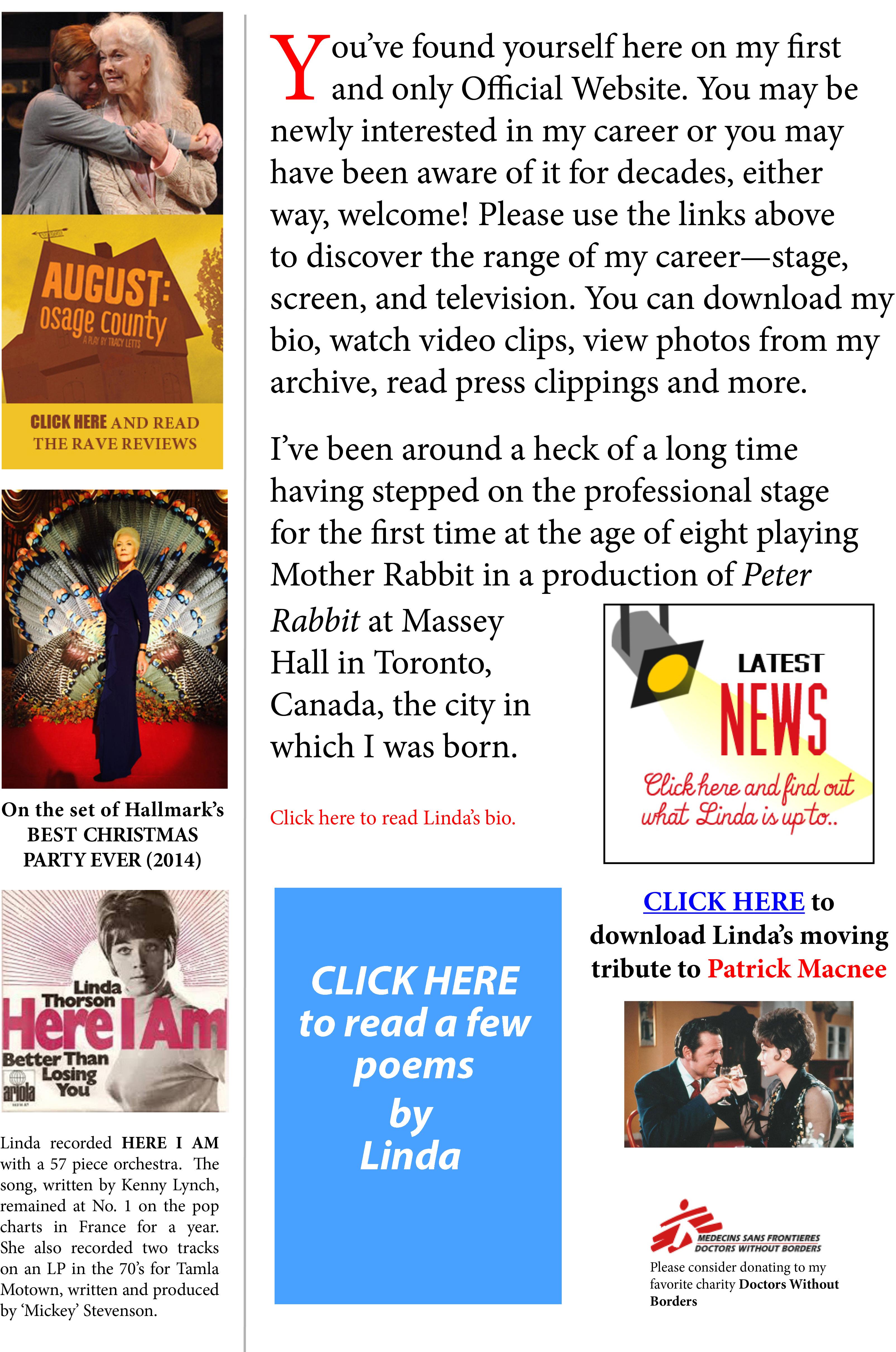 linda thorson actress the official web site of actress linda